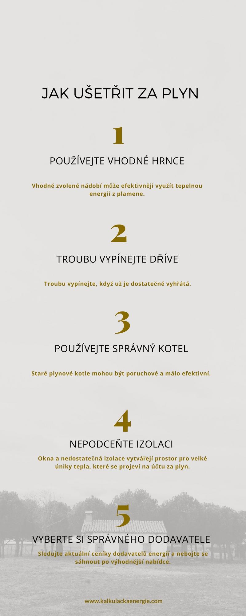 Jak ušetřit za plyn: infografika