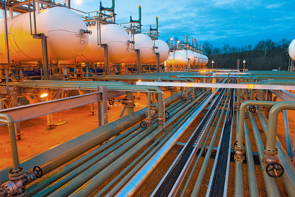 plynové vedení