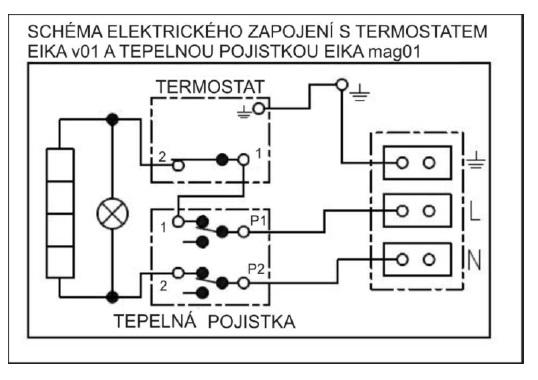 schéma zapojení ohřívače dražice