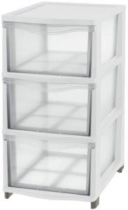 Tontarelli box se 3 zásuvkami bílý