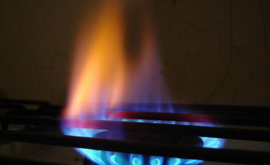hořící plyn