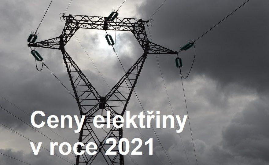 Ceny elektřiny v roce 2021