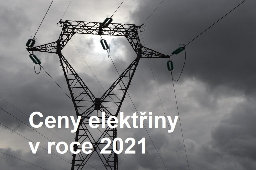 ceny elektřiny 2021